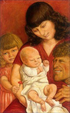 Otto Dix - The Artist's Family, 1927