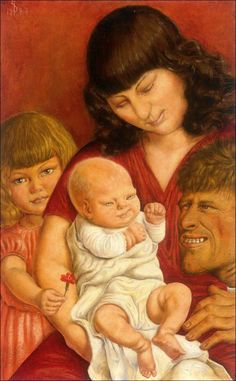 Otto Dix - The Artist's Family, 1927