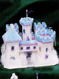 Plastic Canvas - Toy & Game Patterns - Fairy Tale Castles - Winter Ice Palace