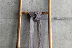 Linen blend grey tie