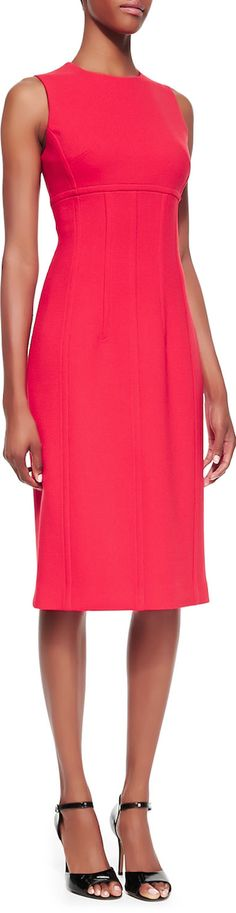 Michael Kors Stretch Boucle Crepe Sleeveless Sheath Dress LOOKandLOVEwithLOLO: Dress for Success