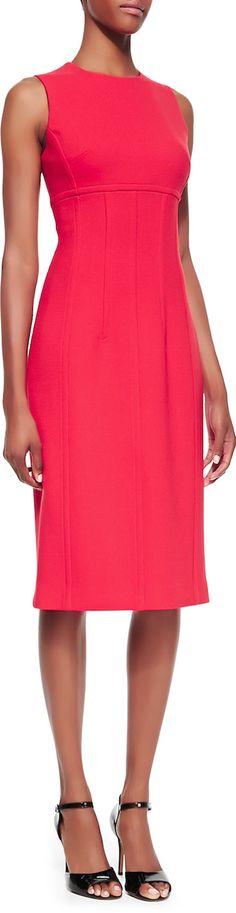 Michael Kors Stretch Boucle Crepe Sleeveless Sheath Dress LOOKandLOVEwithLOLO: Dress for Success