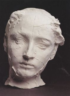 "inneroptics:  "" Auguste Rodin, The Mask of Camille Claudel, 1887  """