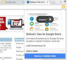 Google's Rumored Stars Bookmarking Service Gets A Bit More Real As Chrome Extension Leaks