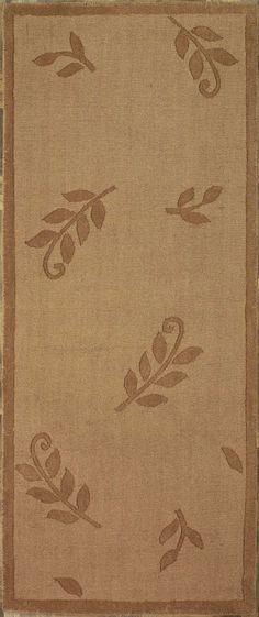 New Contemporary Modern Area Rug 45322 -Handmade and tufted rectangular runner area rug with leaf patterns in brown, 2x6. Imported from India with wool. Free Shipping within the US.