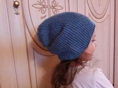 Популярная шапка бини спицами МК для начинающих из пряжи Every day new tweed - YouTube