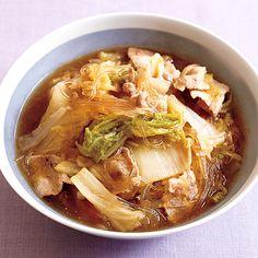 レタスクラブの簡単料理レシピ コクうま中華味でご飯が進む!「豚肉と白菜のはるさめ煮」のレシピです。 もっと見る