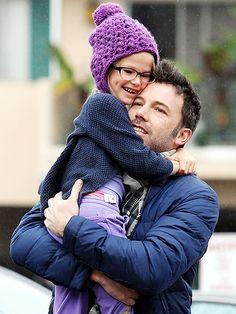Ben Affleck and Violet...she looks just like Jen Garner