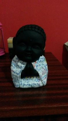 Budita negro cn decoupage pedi el tuyo