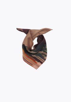 Holzweiler X Munch • Fine scarf • Munch - Silk Neck • Scream Burgundy • Image of product • Landscape