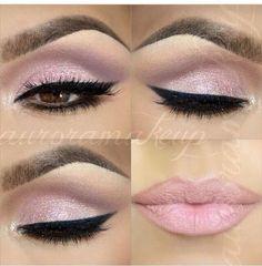 baby pink eye makeup