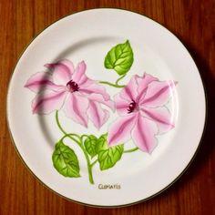 """Set de pratos """"Botânica """" pintados a mão"""