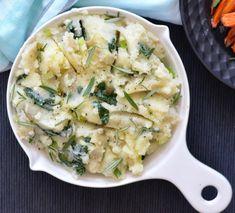 Recipe: Kale Mashed Potatoes Side Dish Recipes, Pie Recipes, Side Dishes, Plum Pie Recipe, Winter Food, Vegan Friendly, Kale, Spy, Risotto