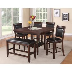 Carrollton Dining Collection 7PC Brown Size 7 Piece Sets