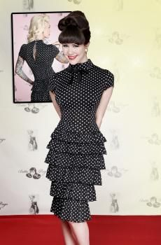 Fantasy Black With White Polka Dot Dress