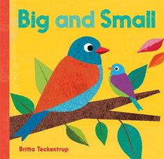 Big and Small | This beautiful board book introduces first vocabulary about nature with appealing, textured illustrations that compare the itty-bitty things we see in nature, like acorns and raindrops, with great big wonders like trees and rainbows. #opposites #kidlit | www.readingbarefootny.com