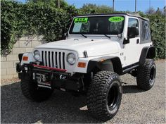 2005 Jeep Wrangler X Sport Utility White Jeep Wrangler, 2005 Jeep Wrangler, Jeep Tj, C10 Chevy Truck, Lifted Ford Trucks, Chevy Trucks, Jeep Sahara, Red Jeep, Jeep Life