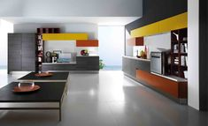 Lacquered linear fitted kitchen ELBA by Biefbi