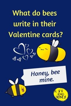 Joke Time! Let's have some BEE FUN! Don't forget to laugh! - #bees #beejokes #beehappy #jokes #fun #laugh #MyDadsHoney Funny Jokes And Riddles, Food Jokes, Funny Jokes For Kids, Silly Jokes, Bee Happy, Happy Fun, Jokes For Teenagers, Grandchildren, Grandkids