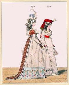 Circassian robe. Scotch bonnet. Regency era fashion. April 1794.