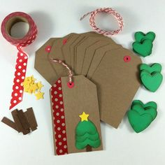 Get started on your Christmas wrapping early! This kit includes everything you need to make 12 DIY holiday/Christmas gift tags. You just provide