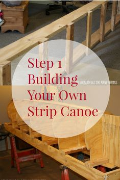 The first steps to building your own strip canoe - building the strongback and attaching form pieces. Wooden Boat Building, Wooden Boat Plans, Boat Building Plans, Make A Boat, Build Your Own Boat, Plywood Boat, Wood Boats, Canoa Kayak, Canoe Plans