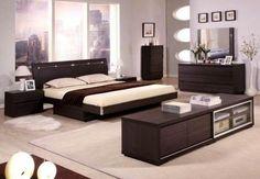 Vig Furniture Italian Classic 5 Piece Bedroom Set Queen Beige Bed ...