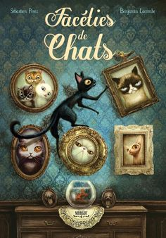 """Facéties de Chats"" publié par les Editions Margot sera disponible le 23 octobre en librairie. J'ai hate que vous découvriez ces 15 facétieux chats et leurs histoires écrites par Sébastien Perez.( Benjamin Lacombe )"