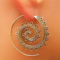 Beautiful And Unique Brass Earrings Tribal Jewelry by RONIBIZA