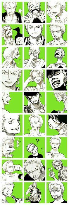Roronoa Zoro, funny, collage, text; One Piece