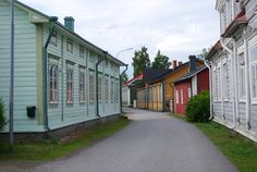 Kristiinankaupunki, Strandgatan, idyllic wooden houses' by Kajsa Snickars Western Coast, Old Buildings, Homeland, Small Towns, Old Town, Light In The Dark, Wooden Houses, Beautiful Homes, Places To Visit