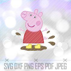 LAYERED SVG DXF Peppa Pig Vector Cut Files Cricut Designs
