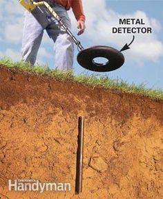 Locate property lines using a metal detector. Doing this VERY soon!!!
