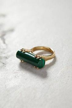 Malachite Wedge Ring