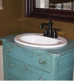 Remodeled Bathroom Vanity Using Old Dresser here's a diy project for your bathroom. turn a dresser into a