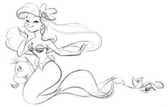 Thumbnails, thoughts, ideas, doodles, drawings and designs from a Disney artist. Disney Princess Ariel, Disney Nerd, Princess Art, Arte Disney, Disney Fun, Disney Sketches, Disney Drawings, Cartoon Drawings, Cute Drawings
