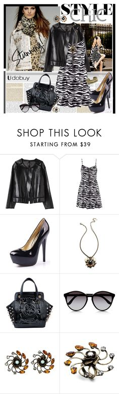 """Udobuy Fashion 3.5"" by rvgems ❤ liked on Polyvore featuring Proenza Schouler, DANNIJO, STELLA McCARTNEY, animal print, black pumps, patent leather shoes, patent leather handbags, animal print dresses, black shoes and leather jackets"
