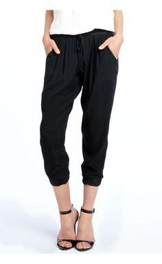 LulaMae Boutique - Ramy Brook Cropped Drawstring Pants in Black, $295.00 (http://www.lulamaestyle.com/ramy-brook-cropped-drawstring-pants-in-black/)