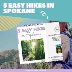 Download 5 easy hikes around Spokane! Travel Advice, Travel Guides, Moving To Washington State, Evergreen State, Family Vacation Destinations, Amazing Adventures, Pacific Northwest, Travel Around, North West