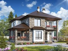 Model House Plan, My House Plans, 2 Storey House Design, Bungalow House Design, House Outside Design, House Front Design, Small House Exteriors, Dream House Exterior, Casas Country