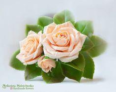 Headband Cream Roses Hairband - Polymer Clay Flowers