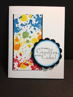 Gorgeous Grunge Bring on the Cake Birthday Card Stampin' Up! Rubber Stamping Handmade Cards