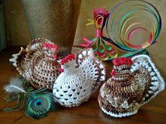 Handmade by Ecola & Dana Art - Wielkanocne kurki Easter Crochet, Crochet Patterns Amigurumi, Crochet Flowers, Little Things, Diy And Crafts, Crochet Earrings, Handmade, Spring, Art