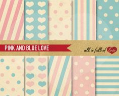 Blue Pink Background Illustrations  by All is full of Love on @creativemarket
