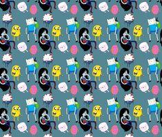 Adventure Time fabric by tellebass on Spoonflower - custom fabric