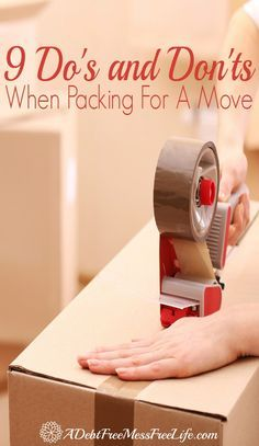9 Do's and Don'ts When Packing For A Move Are you packing up for a move? Whether it be around the corner or long distance, you'll want to use our packing tips and tricks to make it easy and organized! Moving House Tips, Moving Home, Moving Day, Moving Tips, Moving Hacks, Easy Ways To Pack For Moving, Moving Stress, Move On Up, Big Move