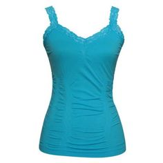 Womens Lace Trim Camisoles (Free Size - Various Colors) Image 1 of 2