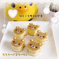 Mini Rilakkuma Dorayaki #food #bento #kawaii #rilakkuma