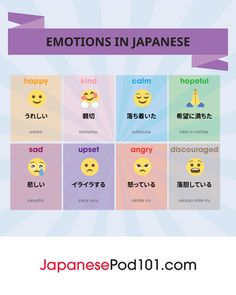 Wanna talk about your feelings in Japanese? <3 Click through to download FREE Japanese cheat sheets pdfs for every topic, including emotions, romance and love! Totally FREE Japanese lessons online at JapanesePod101 - free podcasts, videos, printables, pdfs and more! We recommend Japanese Pod 101 to learn real Japanese, the way it's spoken today. Sign up for your free lifetime account and see how much you can learn in a week! #japanese #learnjapanese #nihongo #studyjapanese #languages…