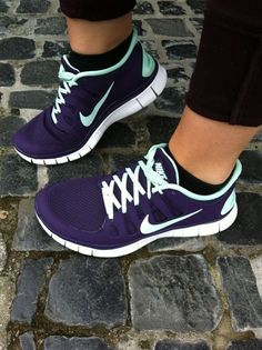 Very pretty running shoes.